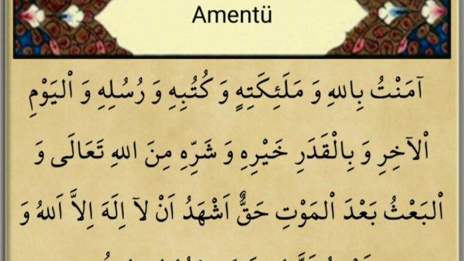 , amentü duası anlamı
