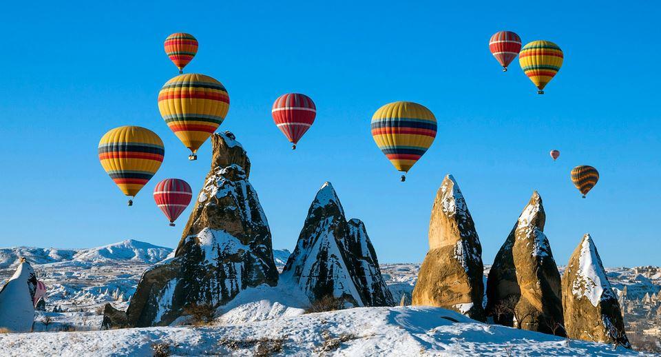 türkiye'de kışın gezilecek yerler kapadokya nevşehir