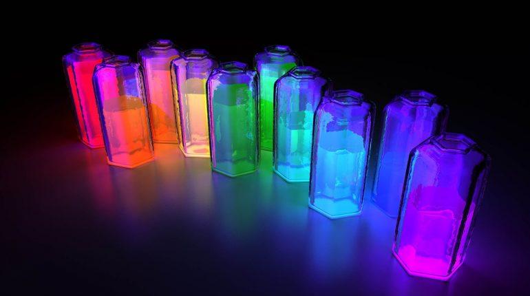 fluorescent digital art wallpaper
