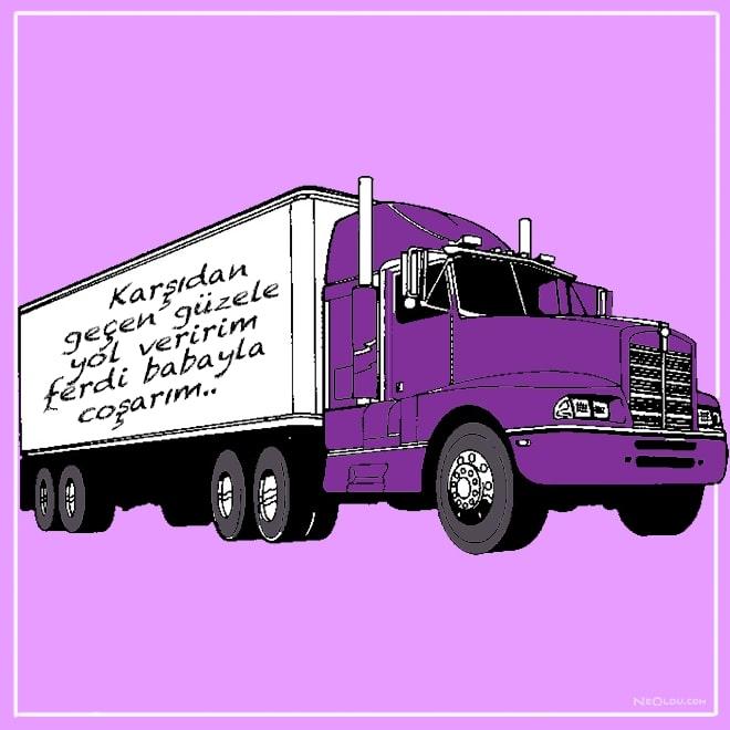 kamyon arkası sözleri