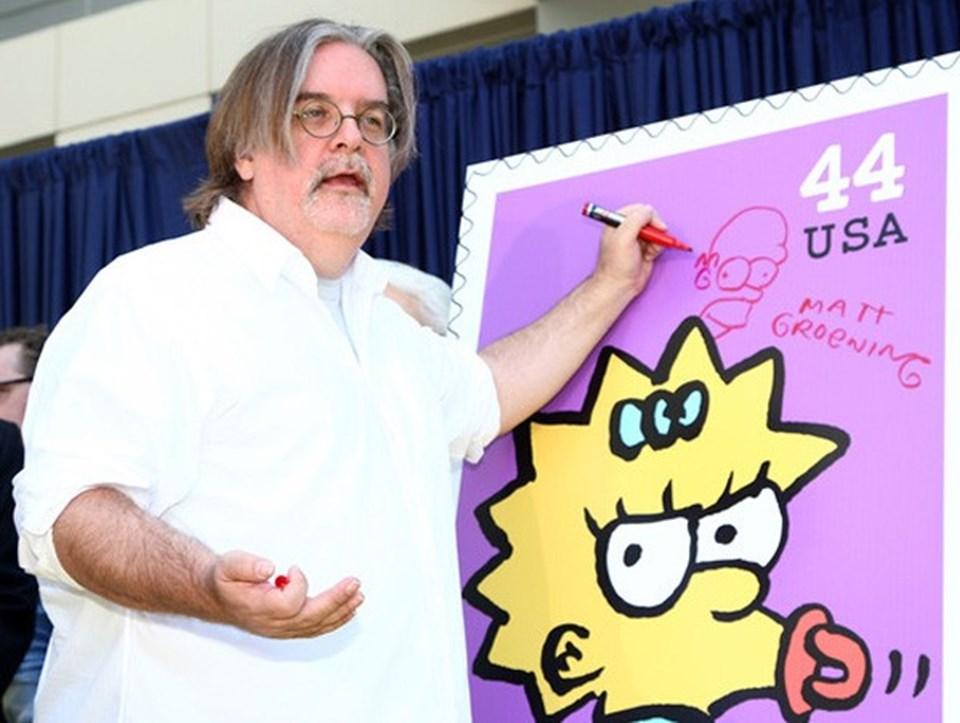 Matt Groening solak olduğu için Bart Simpson'ı da solak yarattı...