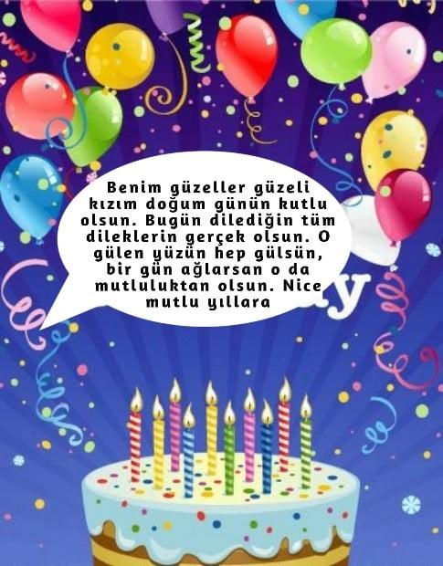 Anneden tatlı güzel kızına doğum günü kutlama mesajları