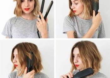 Kısa saçlı kadınlar için su dalgası