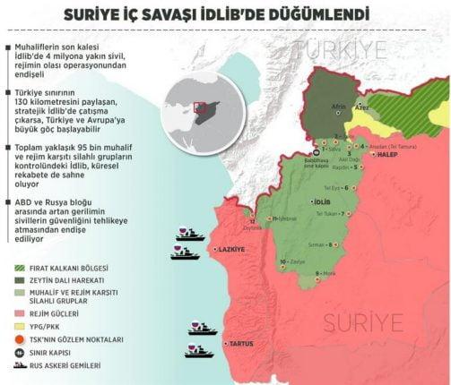 İdlib nerede İdlib nüfusu ve harita üzerindeki konumu
