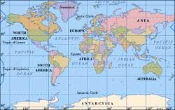 dunya kitalar haritasi