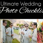 Ultimate Wedding Day Photo Checklist