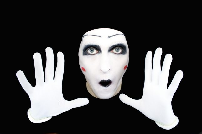 photodune  portrait of the mime in white gloves m